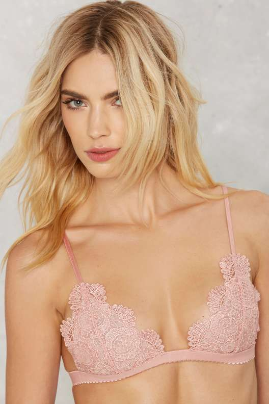 ea75b2ec76 Nasty Gal Andie Lace Bralette - Pink - Lingerie