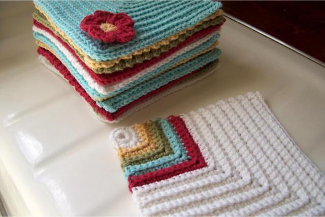 Delightful Diamond Dishcloths | Topflappen, Häkeln und Handarbeiten
