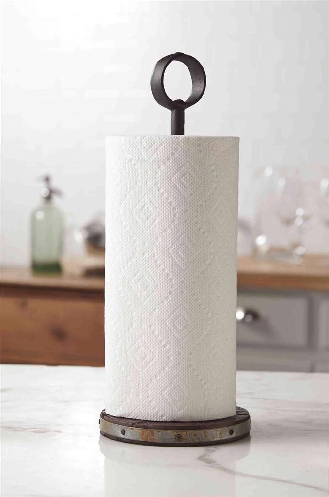 Nice Not Your Usual Kitchen Decor! This Simplistic Styled Towel Holder Is Part  Of Mud Pieu0027s, Bistro Collection. This Paper Towel Holder Features A Wrought  Iron ...