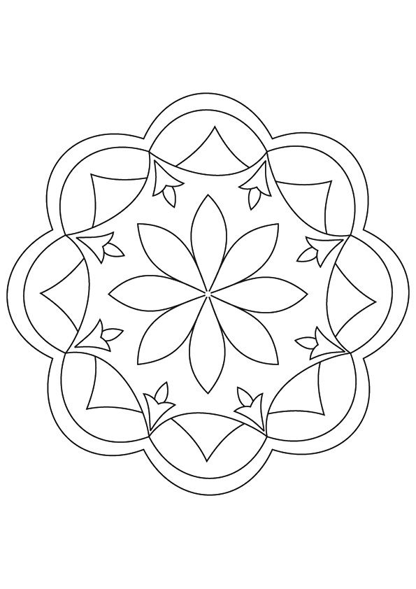 Top 10 Rangoli Coloring Pages For Your Little One Pattern