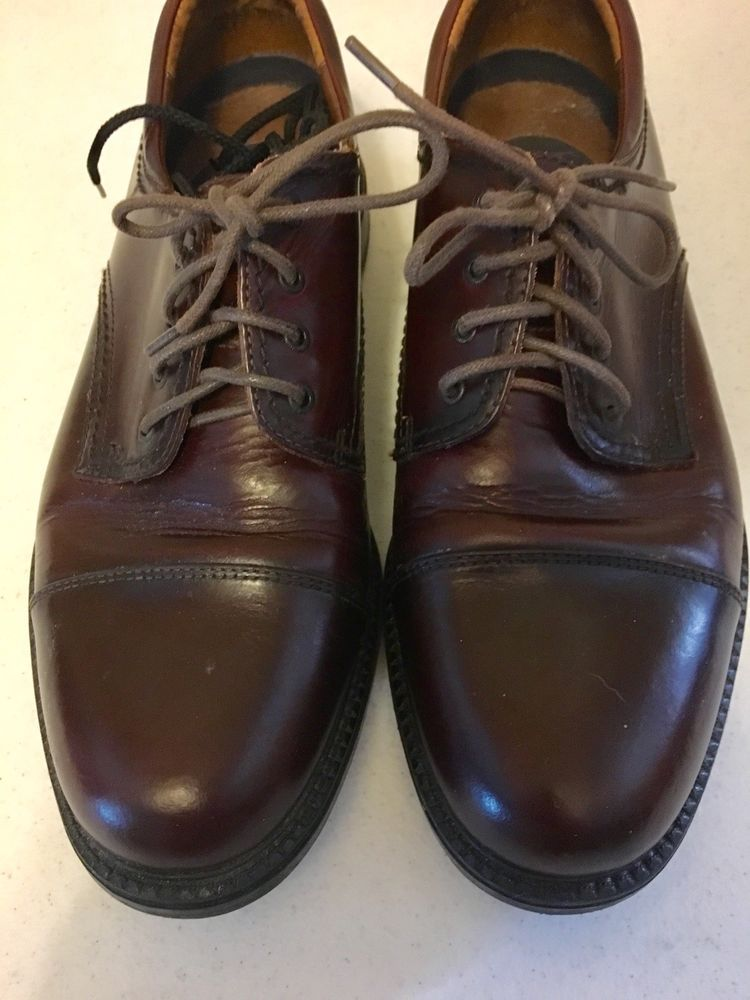 b547b83c626 Dockers Mens Dress Shoes Size 9 Medium Brown Leather upper Lace Up Casual   DOCKERS  LaceUp  Casual