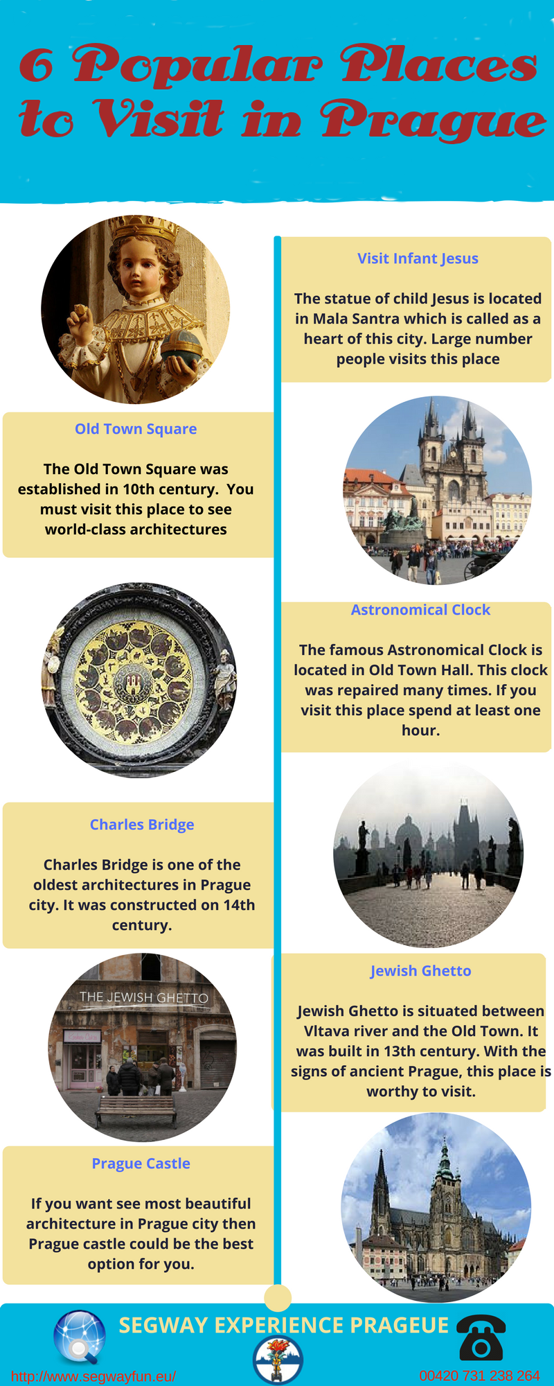 This infographic represents most #popular #places in #Prague. You must visit these places during Prague tour.