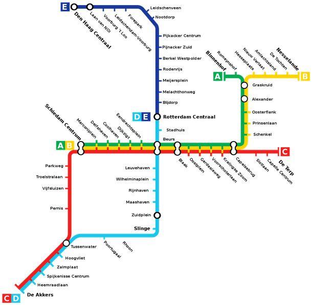 Rotterdam Metro Metro Maps of the World Pinterest Rotterdam