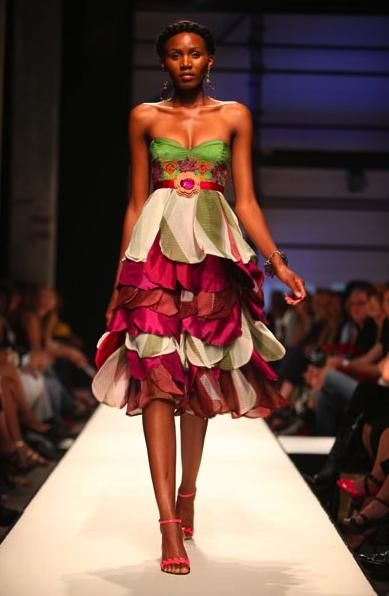 African Fashion South African Fashion Week Brightens Things African Wear Pinterest