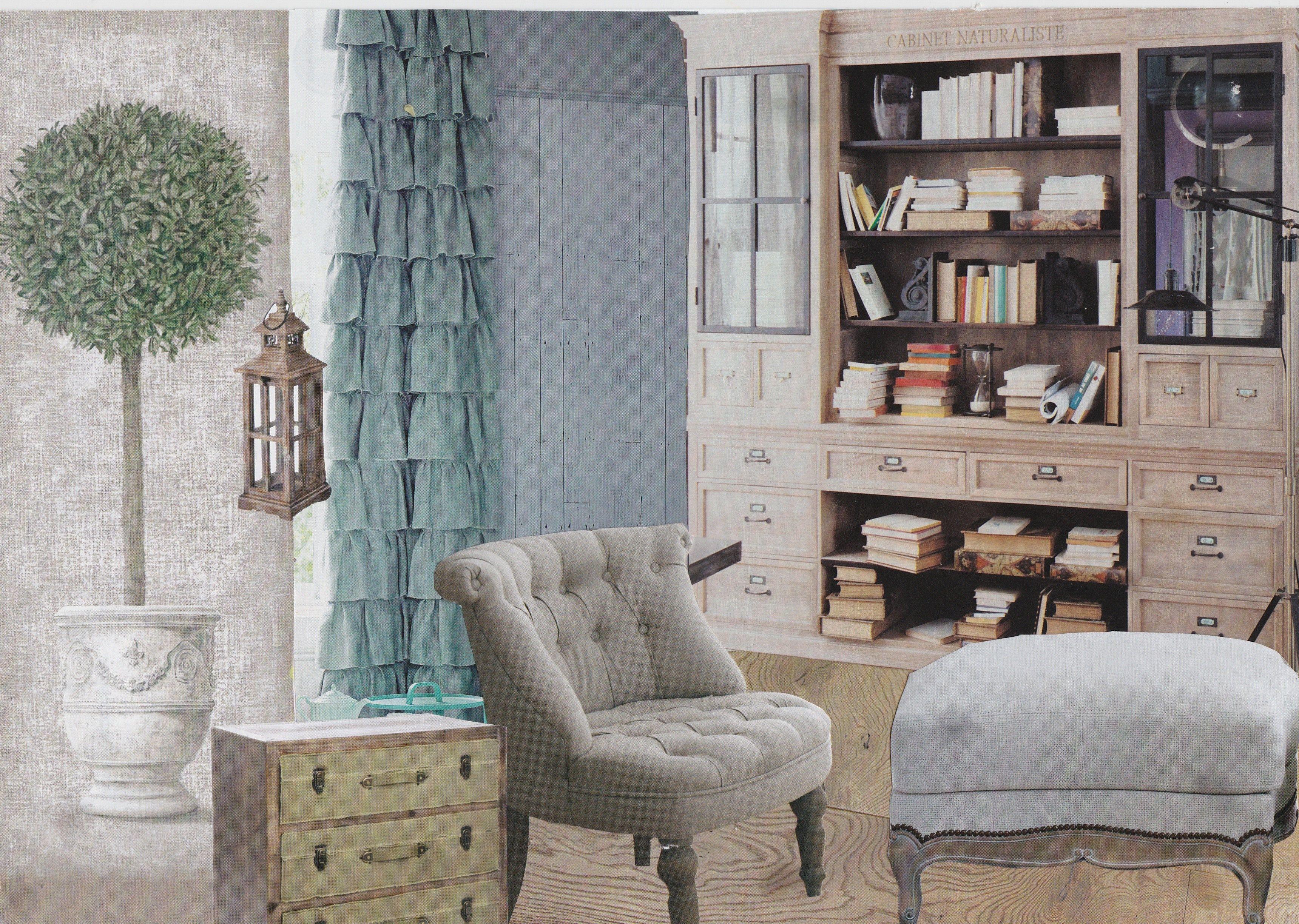 planche tendance campagne chic du bois clair des mati res naturelles comme le lin une. Black Bedroom Furniture Sets. Home Design Ideas