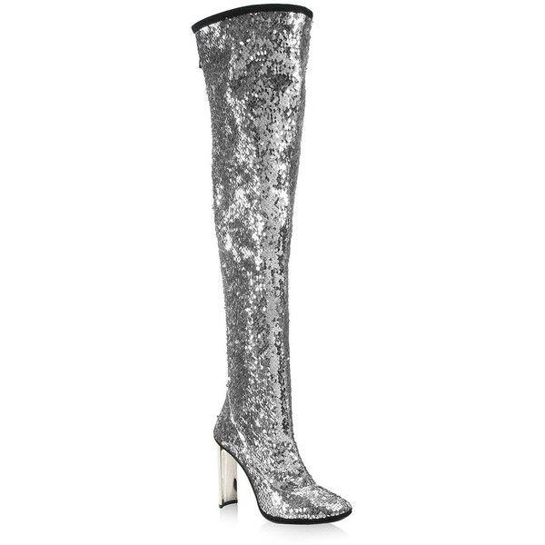 eb973adcee5 Giuseppe Zanotti Sequin Metallic Over-The-Knee Boots ( 1