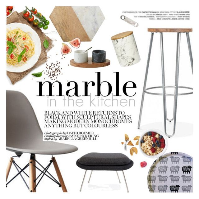 """""""Marble in the kitchen"""" by punnky ❤ liked on Polyvore featuring interior, interiors, interior design, home, home decor, interior decorating, Ciel, Jayson Home, Holly's House and kitchen"""