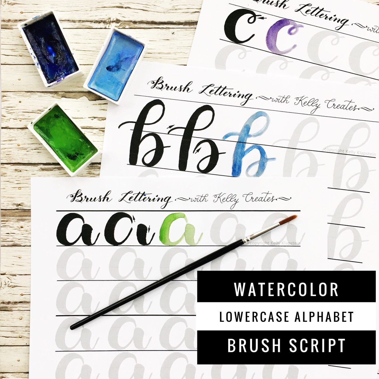 Watercolor Brush Lettering Alphabet Amp Drills L