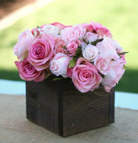 wood centerpiece boxes - Google Search