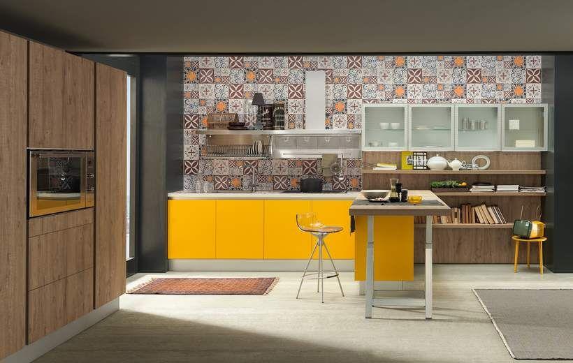 Cucine Moderne - Sand Industrial Edition - Giallo - Febal | Kitchen ...