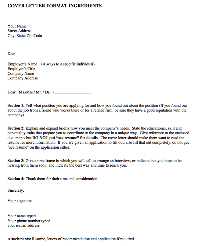 Proper Format For Cover Letter Sample Cover Letter Format  Httpexampleresumecvsamplecover .
