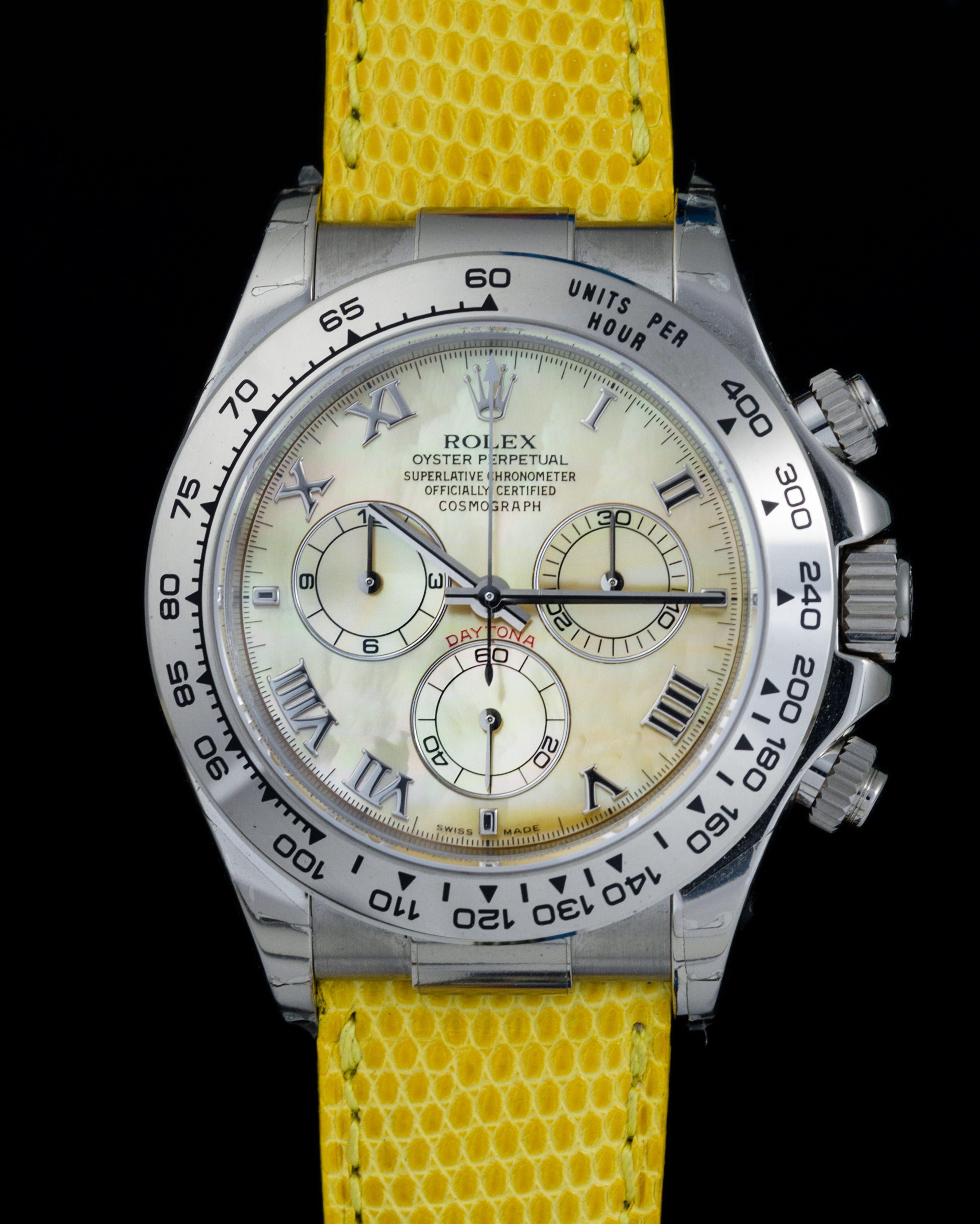 Rolex 116519 Daytona Beach Yellow 18kt W Gold Vintage Watches Milano Orologio