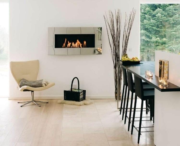 Kamin des modernen Entwurfs im Wohnzimmer #Kamin #des #modernen