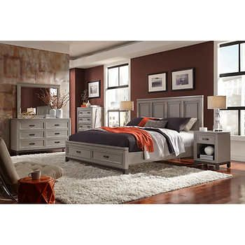 norah 6 piece king storage bedroom set bedrooms pinterest rh pinterest com king bedroom furniture sets with storage king bedroom furniture sets with storage