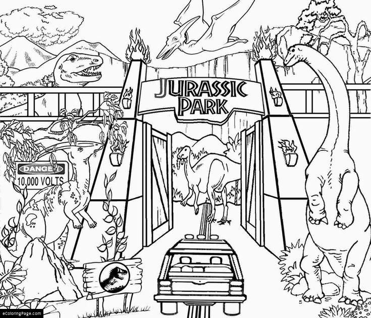 7 Jurassic Park Coloring Pages Printable For Kids Drawing