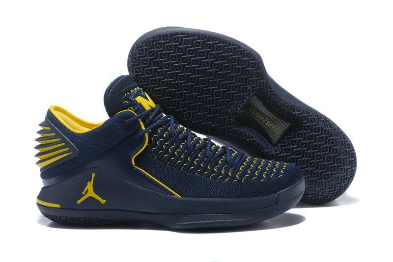 Cheap Air Jordan 32 XXX2 Low Shoes Blue Yellow