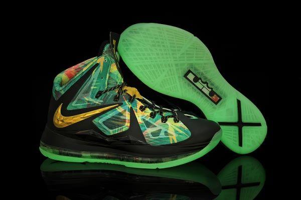 sports shoes 788bb a53f5 Nike Air Max LeBron James X 10 MVP Edition Night light Black Gold  Basketball shoes