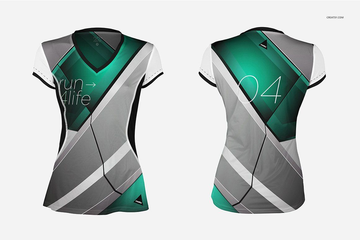 Download Women Running Jersey Mockup Set | Blusa polo feminina ...