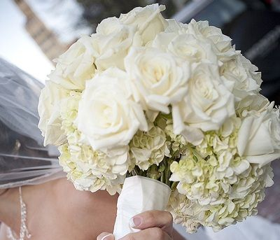 White Vintage Wedding Bouquet
