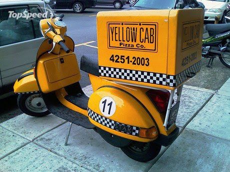 reputable site a5c98 df9eb Yellow Cab Pizza Co. taxi scooter | Le Scoot | Vespa ...