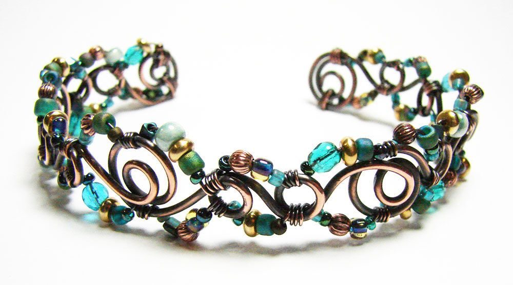 Annealed Copper Wire | Spiraled Frenzy Annealed Copper Wire Bracelet Tutorial Copper Wire