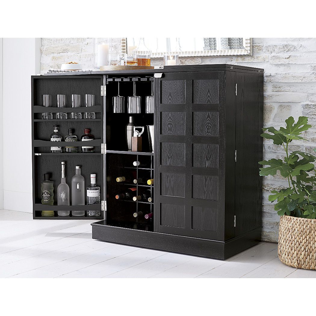 Serve Your Guests In Style With A Bar Cabinet From Crate And Barrel Bar Carts And Cabinets Free Up Valuable Space And Bar Cabinet Bar Cart Decor Bar Furniture