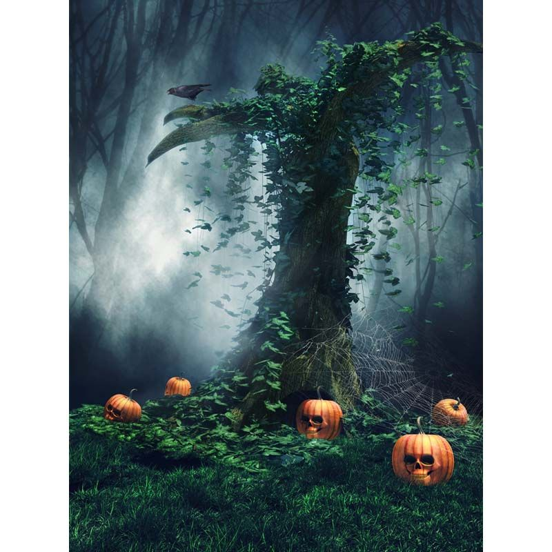 Click to Buy \u003c\u003c Customized vinyl cloth print Halloween scare party - halloween backdrop