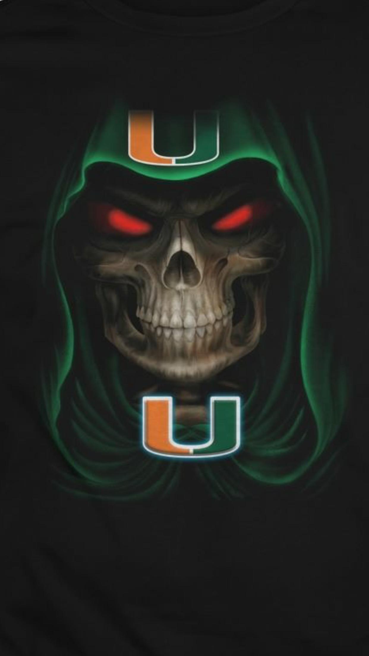Skull Canes Miami Hurricanes Football Miami Football Hurricanes Football
