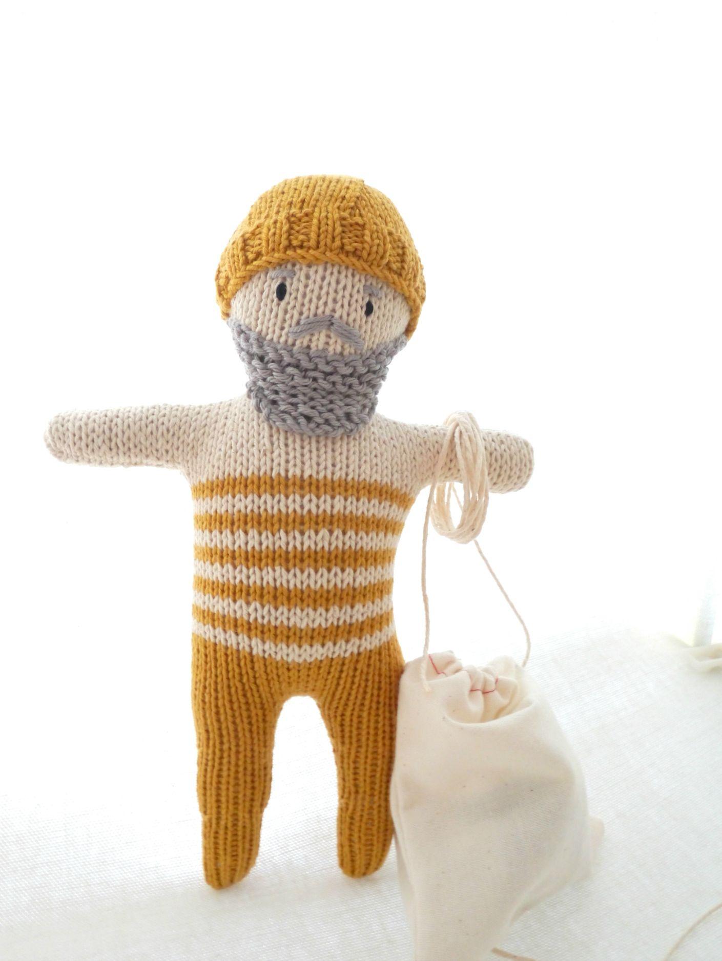 MR. FISHERMAN handmade doll by Paula de Lemos