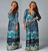 Bohemian maxi dress plus size