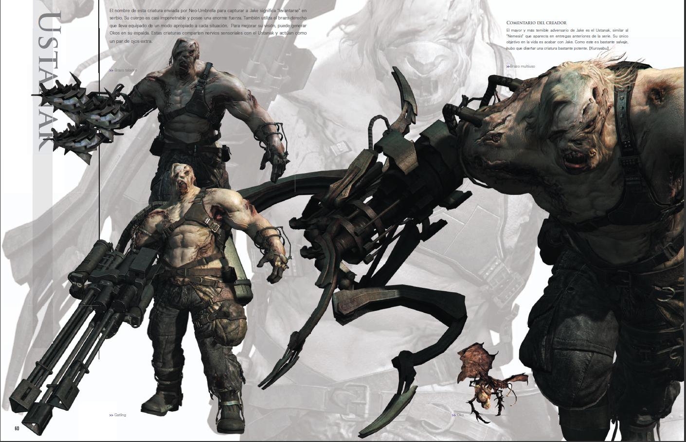 Primera imagen del libro de arte de Resident Evil 6 del Ustanak ...