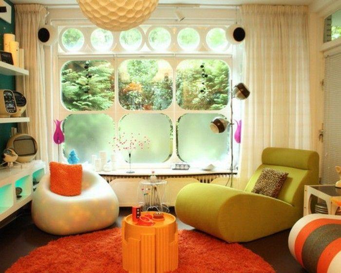 Coole Idee Fur Vintage Dekoration Orange Teppich Lustige Mobelstucke