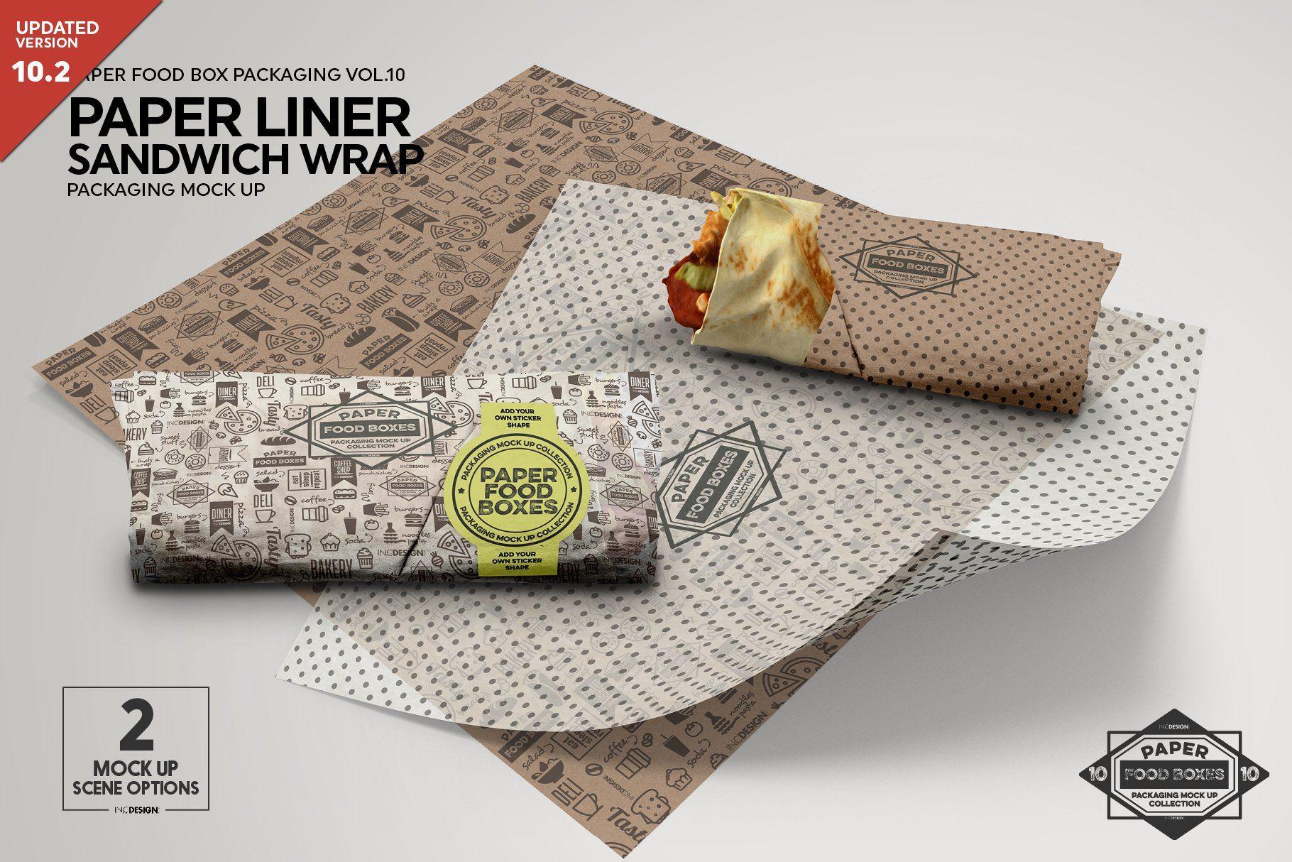 Posted on jul 22, 2019. Wrap Or Burrito Paper Liner Mockup Free Packaging Mockup Design Mockup Free Paper Liner