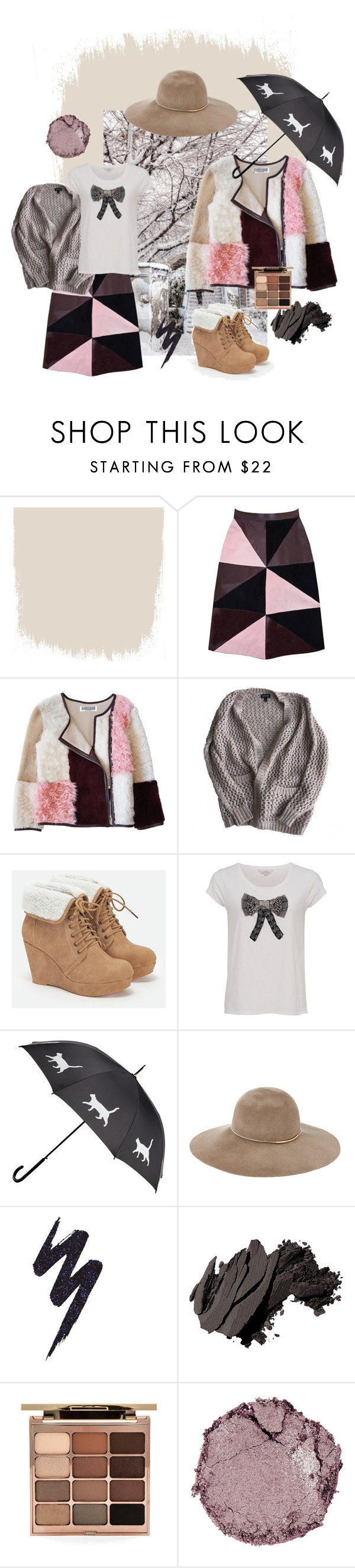 """нежность"" by ludmilakorolko ❤ liked on Polyvore featuring Shibuya, Florence Bridge, Topshop, JustFab, French Connection, Eugenia Kim, Urban Decay, Bobbi Brown Cosmetics, Stila and Chantecaille"