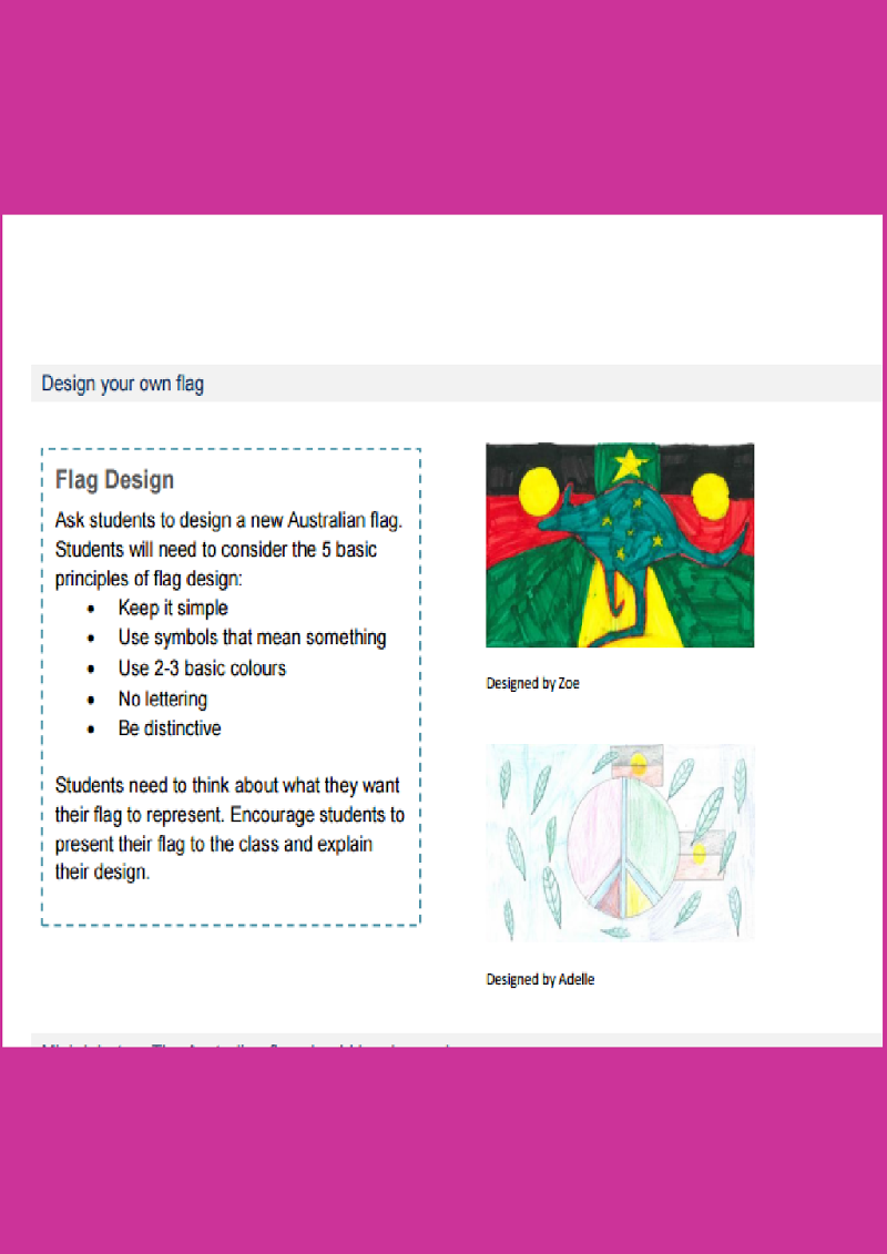 Australian Flags Cultural Identity Teacher Resources Geography Symbols Pdf Students