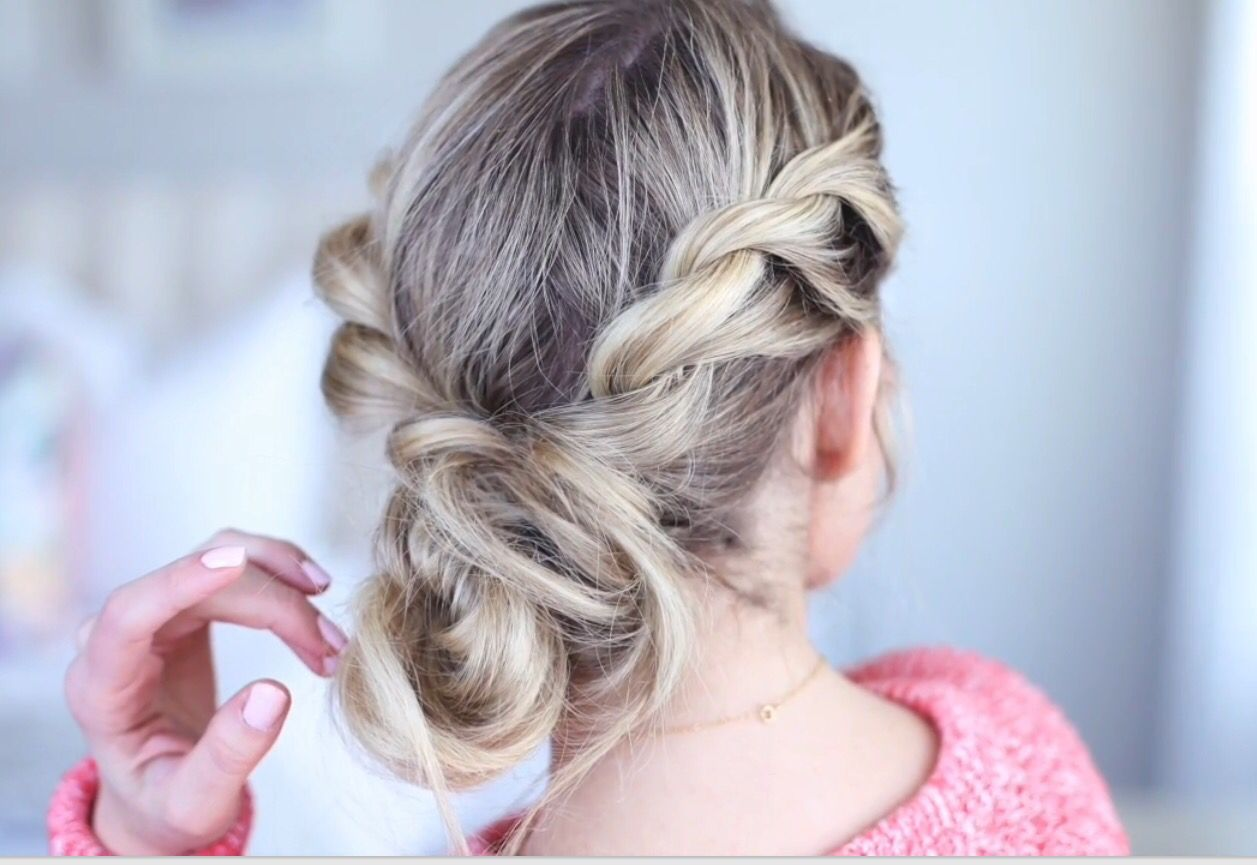 A Very Beautiful Twistback Messy Bun From Cgh Watch The Video On
