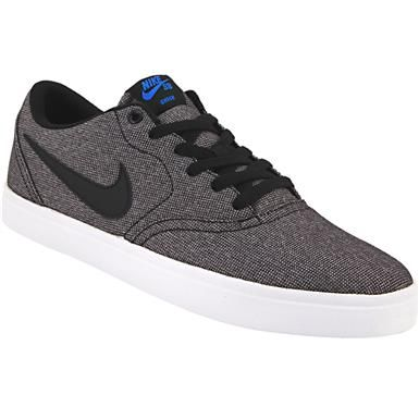 f5b8f5e6ba67b7 Nike Sb Check Solarsoft Can Skate Shoes - Mens Black White ...