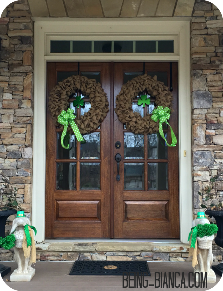 St Patrick S Day Decor For Front Porch Entry Inexpensive And Festive