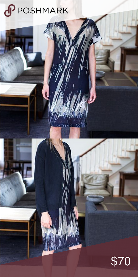 Emerson Fry V Neck Column Dress Wild Silk Wool Up for sale is an Emerson Fry V Neck Column Dress in Wild Silk Wool, size 6.  Never worn, in excellent condition.  Beautiful layering piece for fall. Emerson Fry Dresses #emersonfry