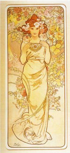 Rose - Alphonse Mucha