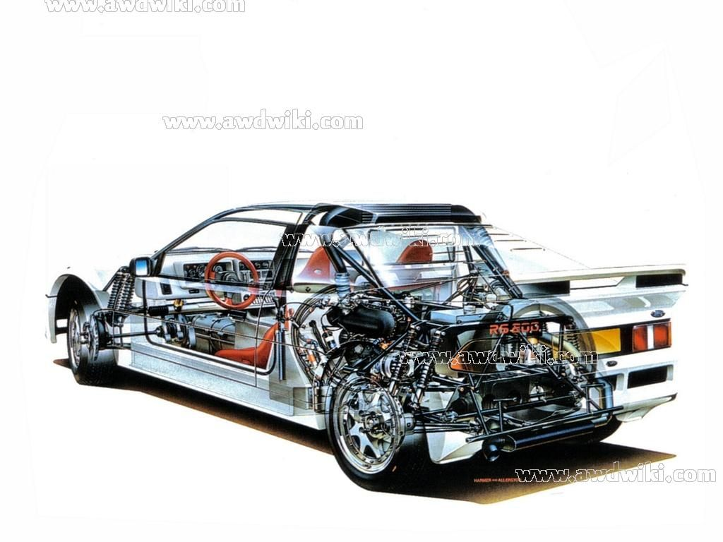 Ford Rs200 Transaxle Ford Technical Illustration Photo