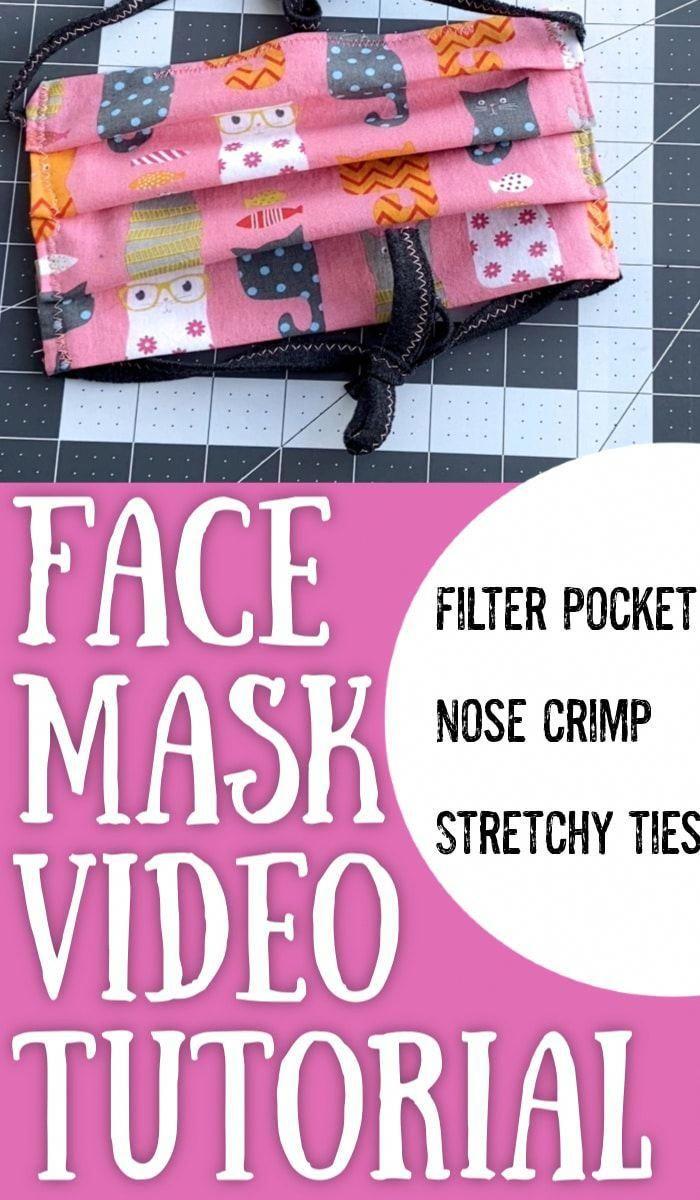 diy face mask with filter pocket Free pattern