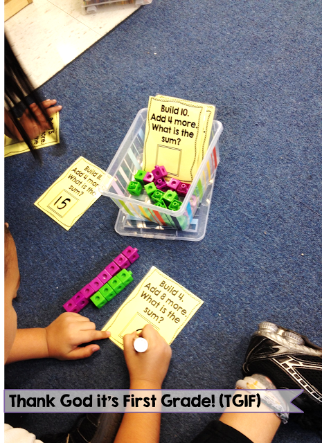 More Math Stations and an Addition Freebie! - Thank God Its First Grade (TGIF!)