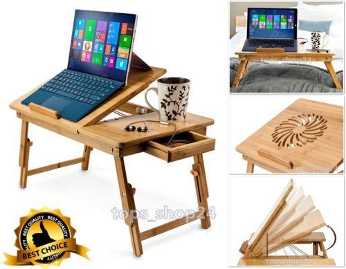 Laptop Desk Table Fold Adjustable Stand Homework Notebook