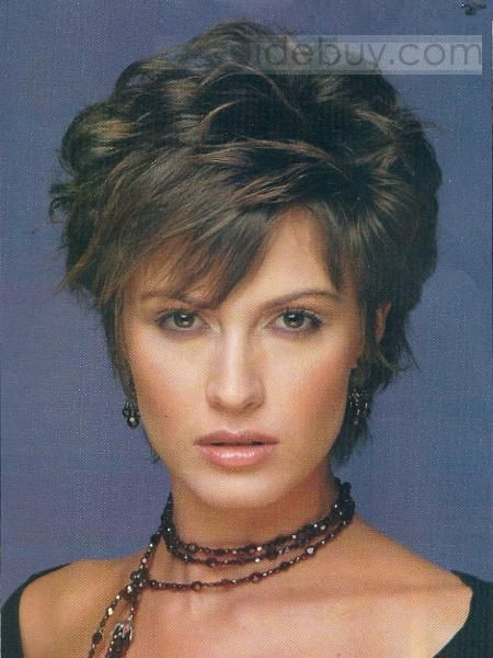 Well Designed Charming Short Layered Curly Black Full Lace Wig 100 Human Hair For Your Perfect Taste Hair Styles Short Curly Hairstyles For Women Short Hair Styles