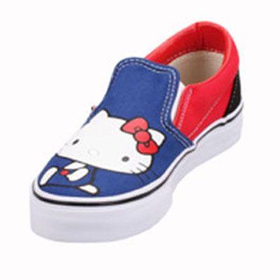 Vans VN-0QFB66 Youth Classic Slip On Hello Kitty Blue Red Shoe   44.99 882b0bd49