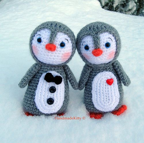 Amigurumi Free Pattern Couple : Kawaii Amigurumi Penguin couple crochet pattern? by ...
