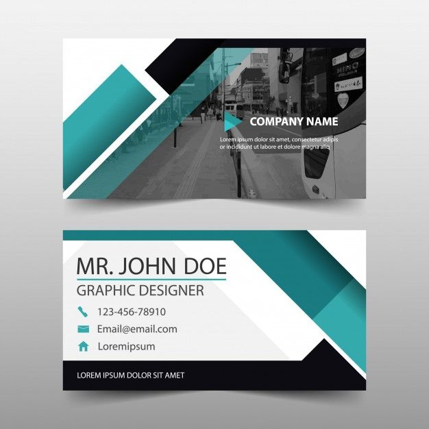 Modern Geometric Business Card Template Visiting Card Design Beautiful Business Card Cool Business Cards