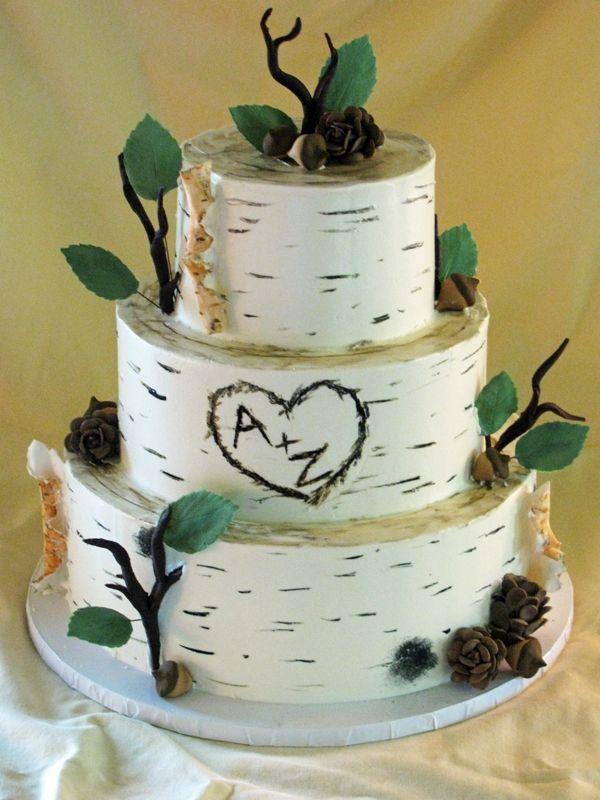 Autumn Wedding Cake Gallery Cakes Birch Tree Theme