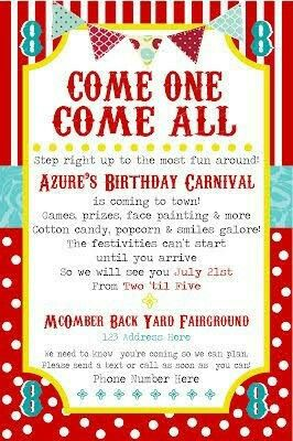 Pin By Rosie On Kiddie Carnival Pinterest Carnival Birthday